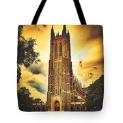 Duke University Chapel At Dusk Tote Bag