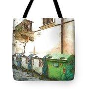 Dumpster Of Garbage Tote Bag