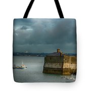 Dun Laoghaire Harbor Lighthouse Tote Bag