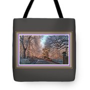 Dundalk Avenue In Winter. L A With Alt. Decorative Printed Frame. Tote Bag