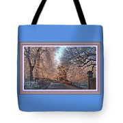 Dundalk Avenue In Winter. L A With Decorative Ornate Printed Frame. Tote Bag