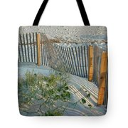 Dune Fence Tote Bag by Suzanne Gaff