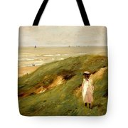 Dune Near Noordwijk With Child Tote Bag