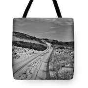 Dune Path In Black And White Tote Bag