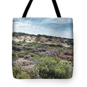 Dune Plants As Erica And Beautiful Sky Tote Bag