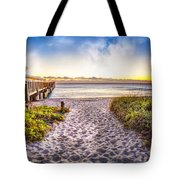 Dunes At The Pier Tote Bag
