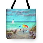 Dunes Beach Colorful Umbrella Tote Bag