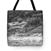 Dunes In Black And White Tote Bag