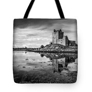 Dunguaire Castle In Black And White Tote Bag