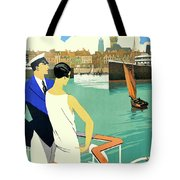 Dunkirk City, View From The Tourist Boat Tote Bag