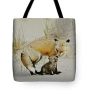 Dunr Fox Father And Child Tote Bag