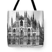 Duomo Di Milano Tote Bag
