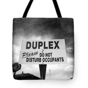 Duplex Yard Sign Stormy Sky In Bw Tote Bag