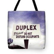 Duplex Yard Sign Stormy Sky Tote Bag