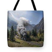Durango And Silverton Train At Elk Park Wye Tote Bag