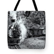 Durango Silverton Train Bandw Tote Bag