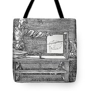 Durers Perspective Drawing Of A Lute Tote Bag