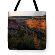 Dusk At Colorado National Monument Tote Bag