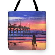 Dusk At The Pier Tote Bag