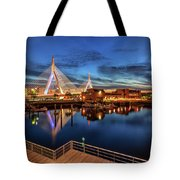 Dusk At The Zakim Bridge Tote Bag