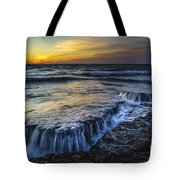 Dusk At Torregorda Beach San Fernando Cadiz Spain Tote Bag