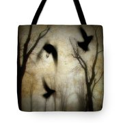 Dusk Begins As The Crows Fly Tote Bag