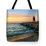 Dusk In Charlevoix Tote Bag