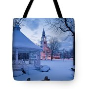 Dusk In Templeton Tote Bag by Susan Cole Kelly