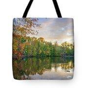 Dusk On Autumn Lake  Tote Bag