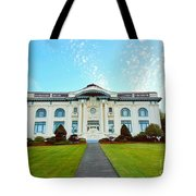 Dusk On Pacific County Historical Courthouse  Tote Bag