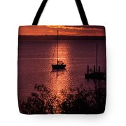 Dusk On The Bay Tote Bag