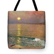 Dusk Over The Coast Tote Bag