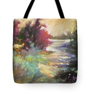 Dusk Over The Marshes Tote Bag