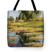 Dusk Over The Pond Tote Bag