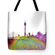 Dusseldorf Skyline 3 Tote Bag