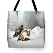 Dust From Explosion Fly To Photo Lens  Tote Bag