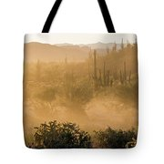Dust Storm In The Desert Tote Bag