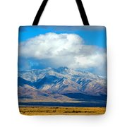 Dusting Of Snow, Dos Cabezas Tote Bag