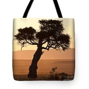 Dusty Sunset Over The Mara Tote Bag