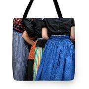 Dutch Dancers In A Huddle Tote Bag