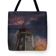 Dutch Windmill In Lynden Washington State At Sunset Tote Bag