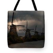 Dutch Windmills In Kinderdjik Tote Bag