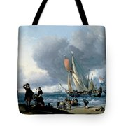 Dutchman Embarking Onto A Yacht Tote Bag