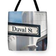 Duval Street In Key West Tote Bag