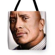 Dwayne Johnson Color Tote Bag