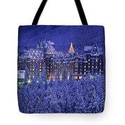 D.wiggett Banff Springs Hotel In Winter Tote Bag