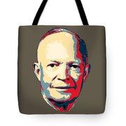 Dwight D. Eisenhower Pop Art Tote Bag