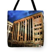 Dying Building Tote Bag
