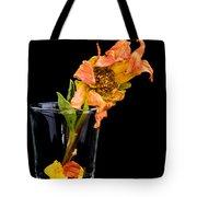 Dying Dahlia Flower Tote Bag