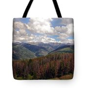 Dying Evergreens Tote Bag